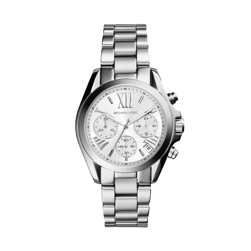 Image of   Michael Kors Mini Bradshaw dameur i stål med chronograph 38 mm
