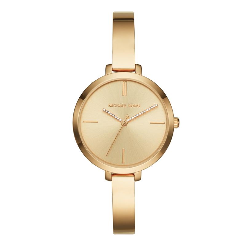 Michael Kors Jaryn armbåndsur i forgyldt med krystaller på viserne