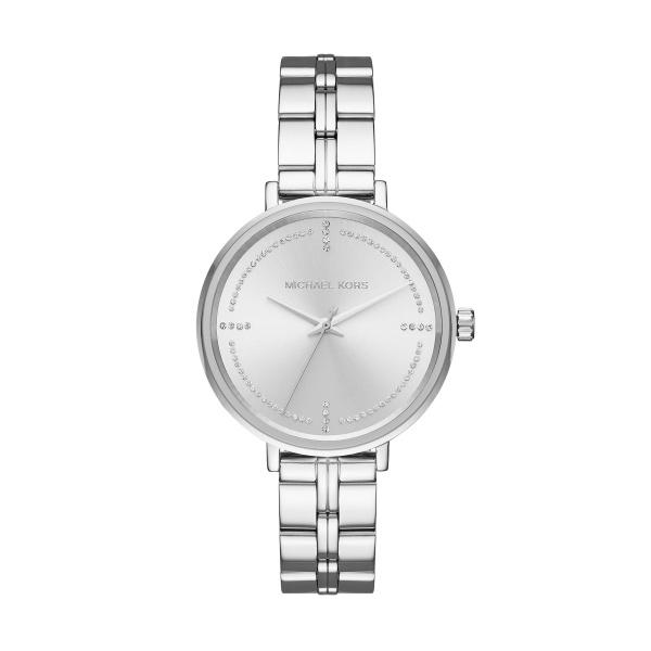 Michael Kors Bridgette armbåndsur i stål med sølv skive og lænke
