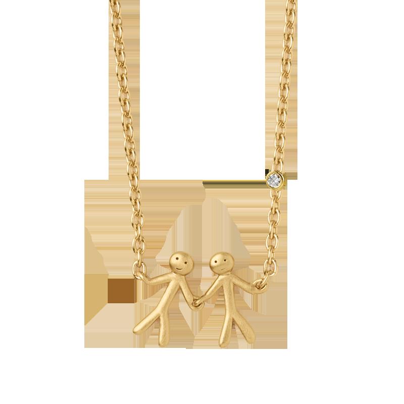 ByBiehl My Love together 2 halskæde i 14 kt. guld med 0,02 ct. diamant