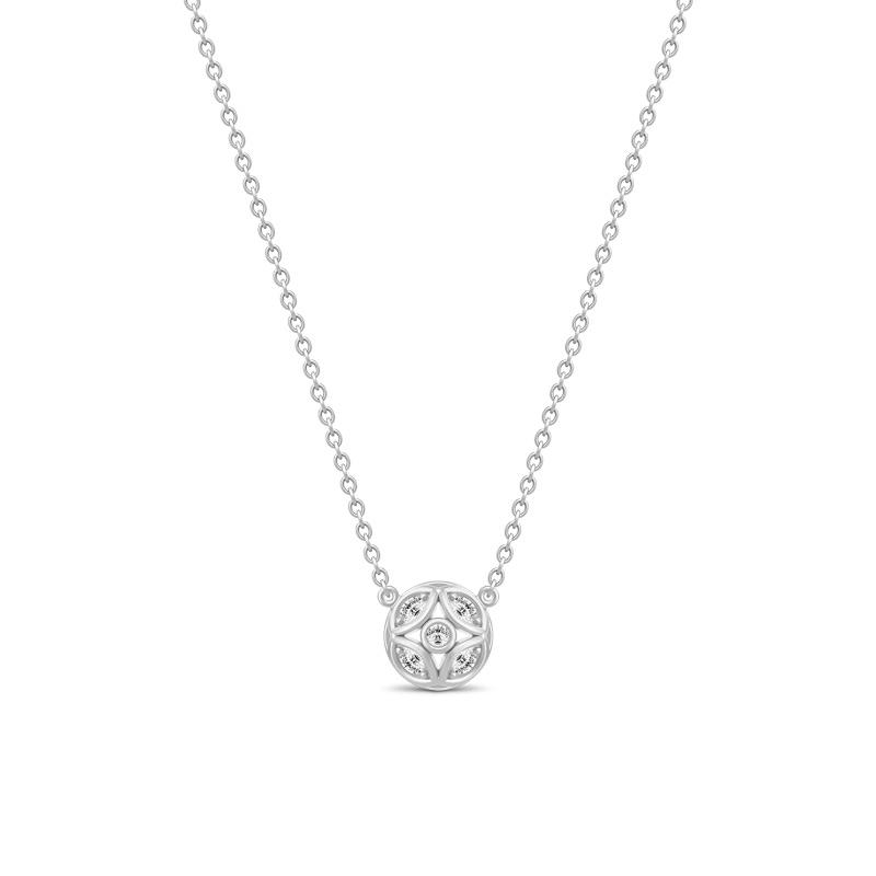 Julie Sandlau Lily halssmykke i sølv med cz