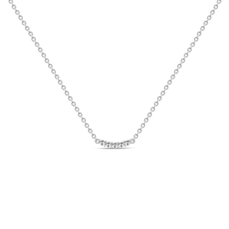 Julie Sandlau Lucia sølv halskæde med cubic zirkonia