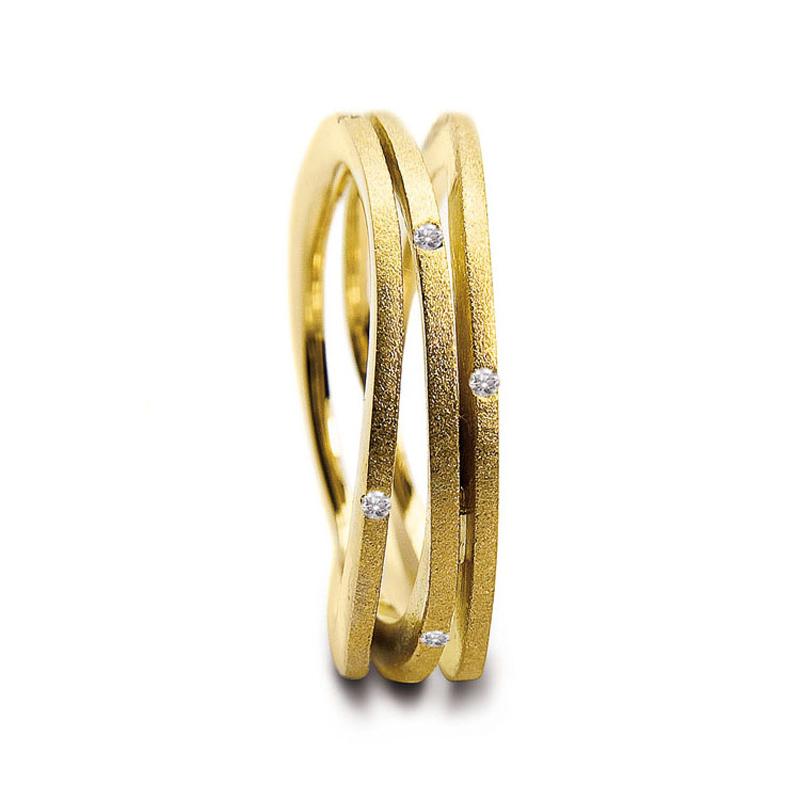 Nöen Breeze Ring, 14 kt. guld, 0,33 ct brillant
