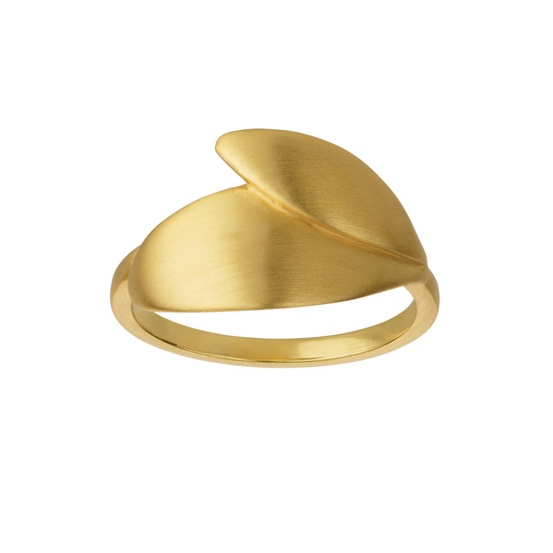 Image of   ByBiehl Olive forgyldt ring