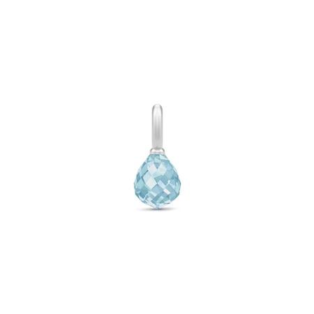 Julie Sandlau Evening Dew sølv vedhæng med blå krystal