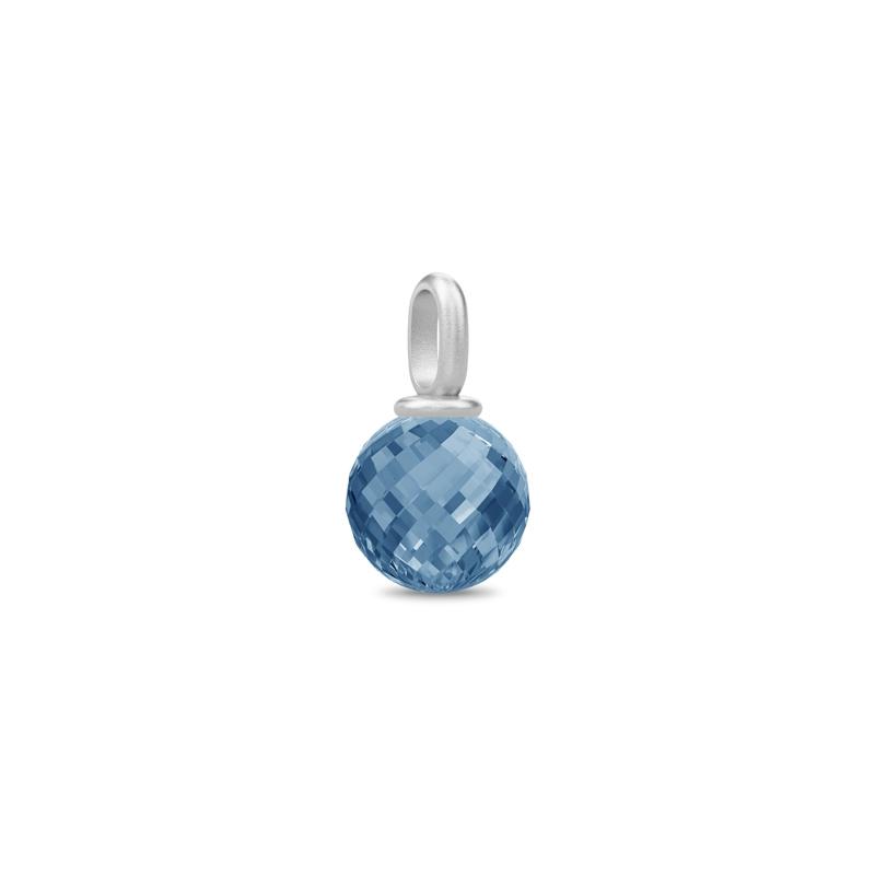 Julie Sandlau Globe vedhæng i sølv med blå krystal