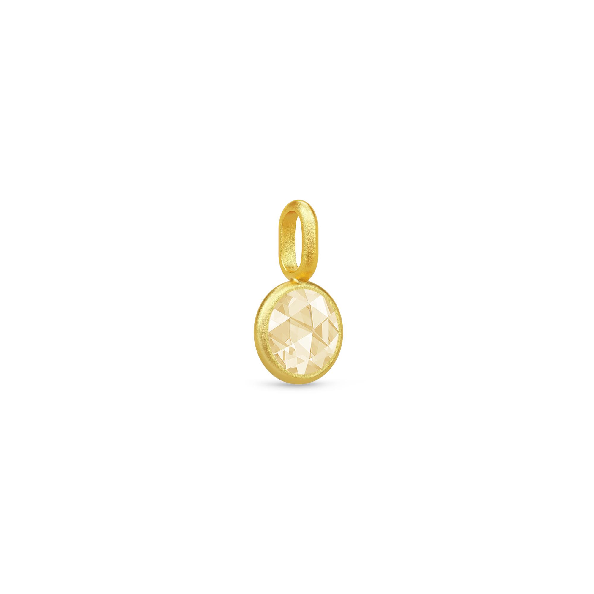 Image of   Julie Sandlau Cocktail lille vedhæng i forgyldt med lemon gul zirkon