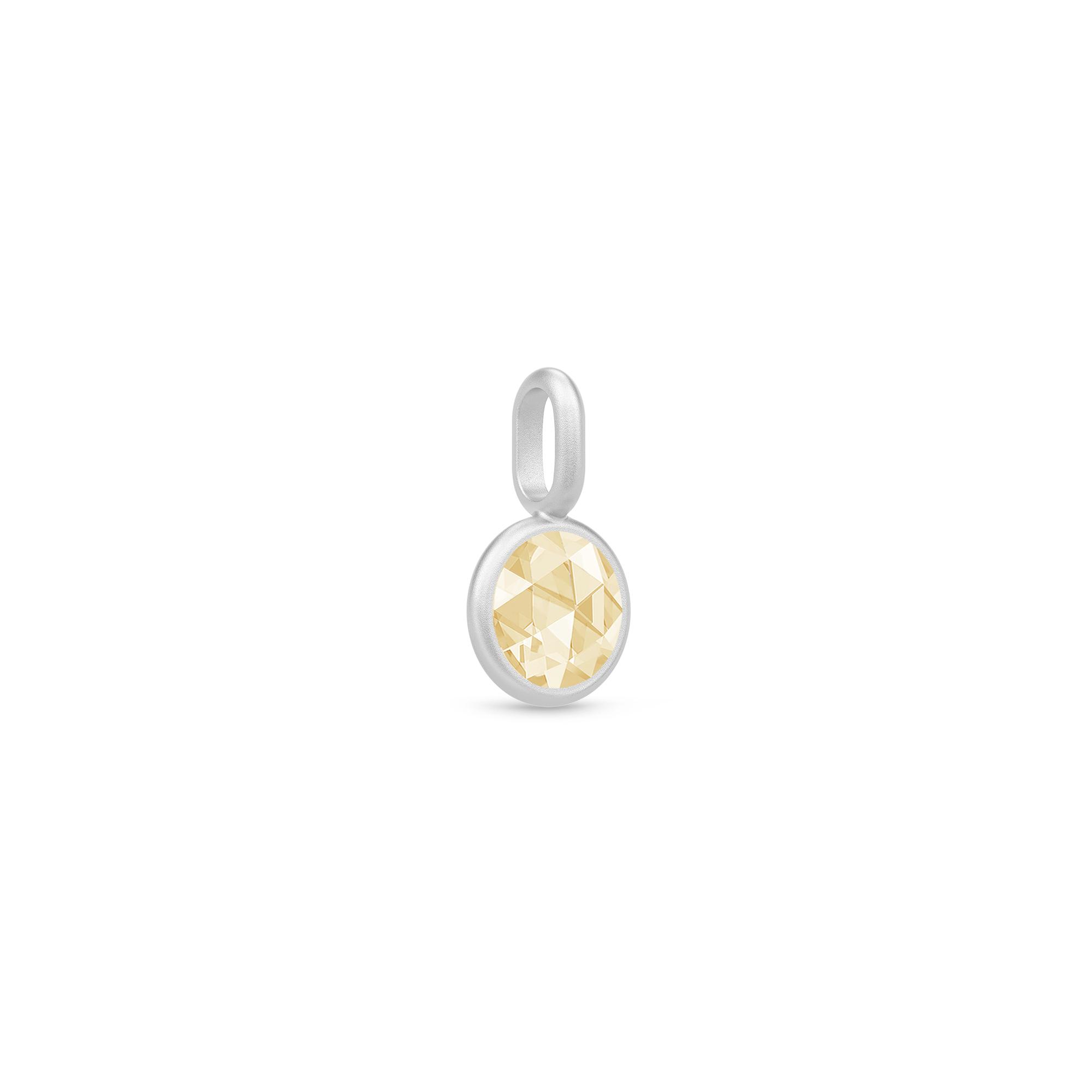 Julie Sandlau Cocktail lille vedhæng i sølv med lemon gul zirkon