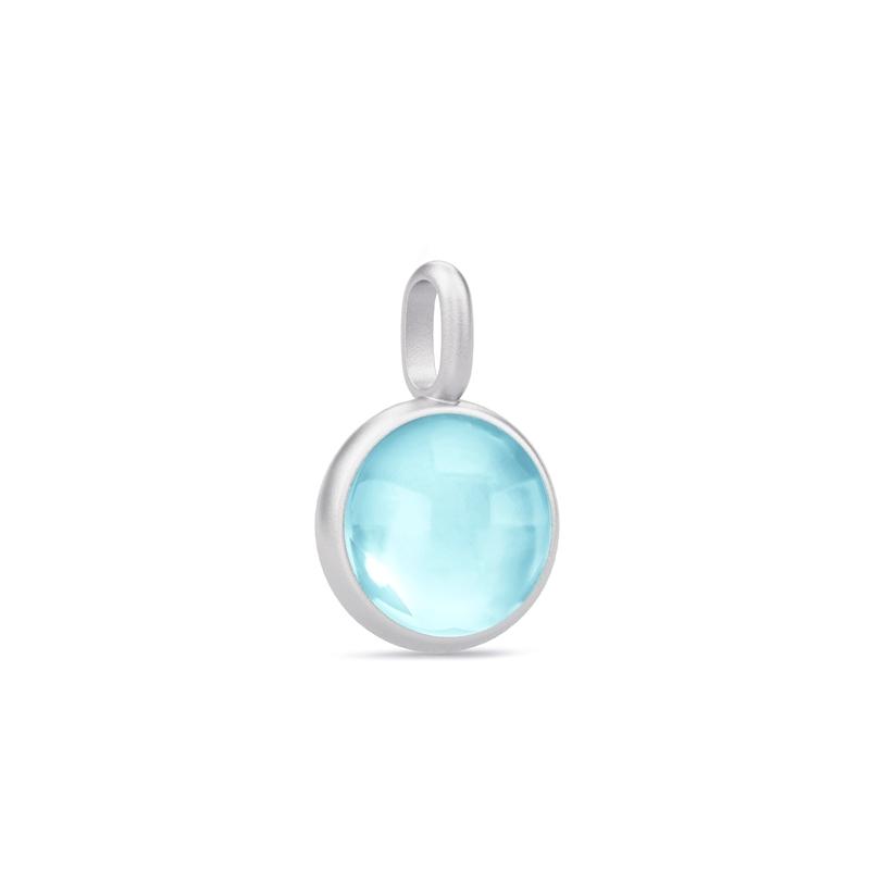 Julie Sandlau Prime Vedhæng i sølv med lyseblå krystal thumbnail