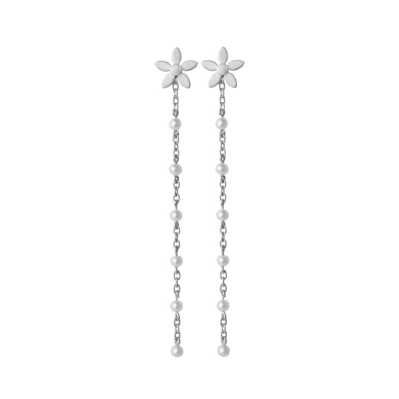 Image of   ByBiehl Scarlett ørehænger i sølv med perler