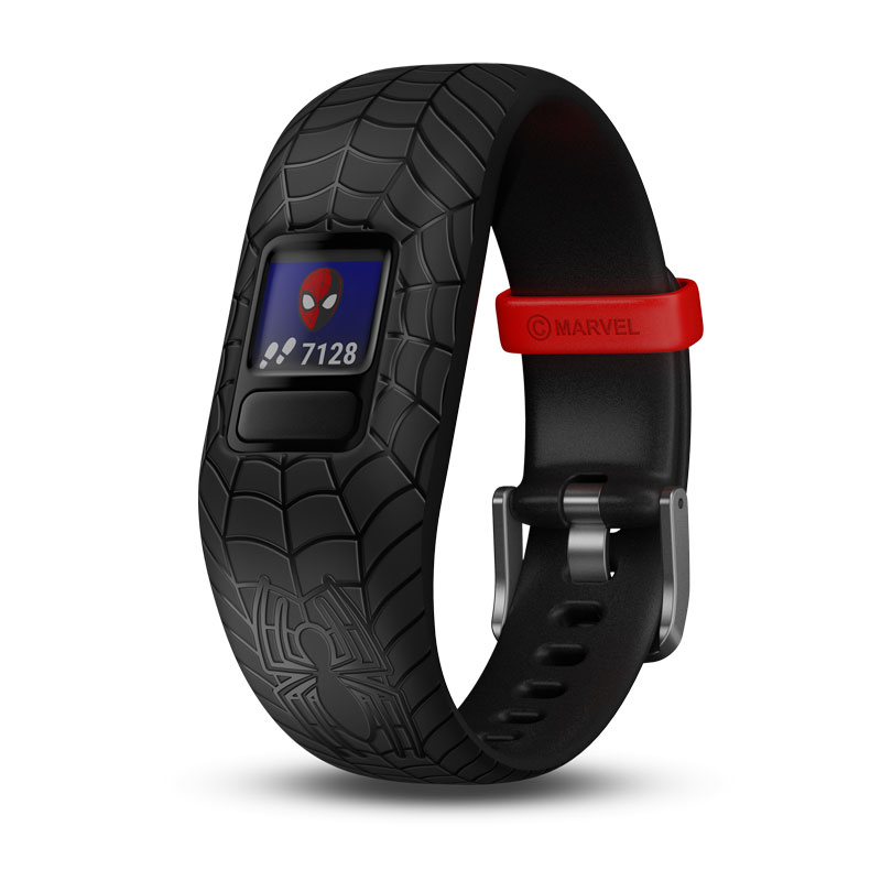 Image of   GARMIN Vivofit jr. 2 Spiderman sort børnearmbåndsur med aktivitetstracker