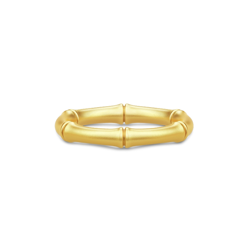 Julie Sandlau Bamboo ring i forgyldt-str_60
