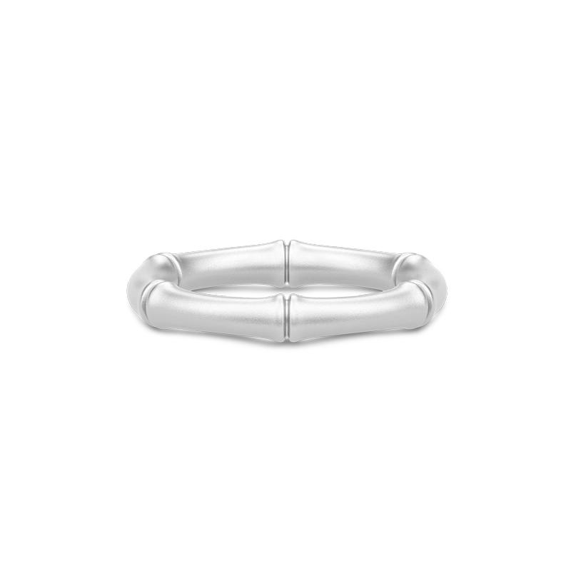 Julie Sandlau Bamboo ring i rhodineret sølv