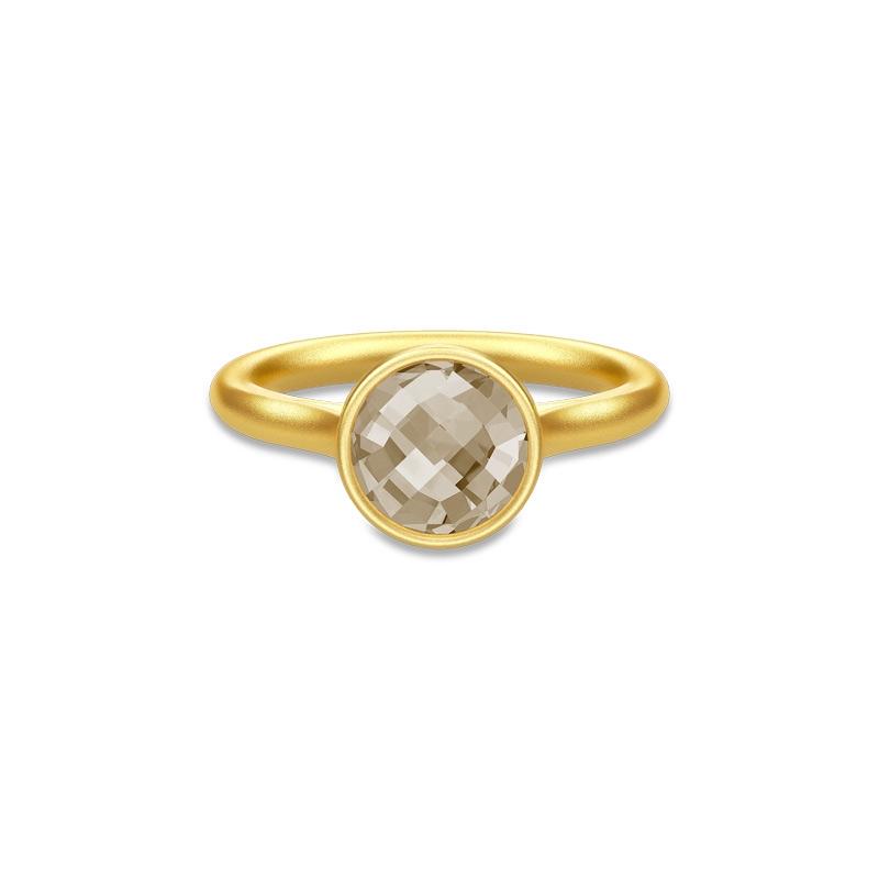 Julie Sandlau Sweet Pea ring i forgyldt med røgfarvet krystal