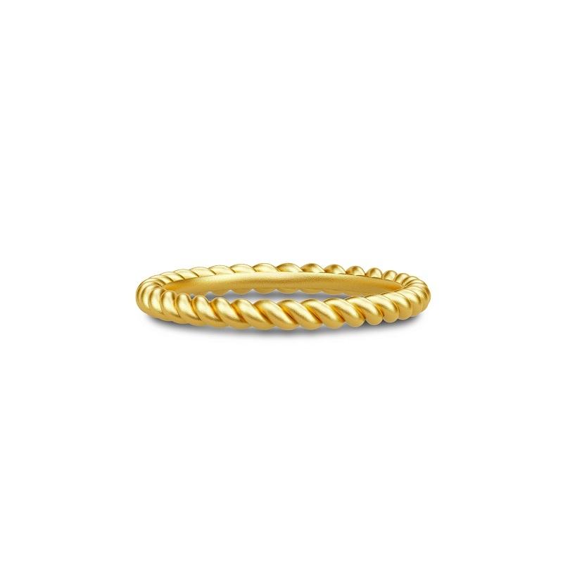 Julie Sandlau Twisted Classic snoet ring i forgyldt str 50