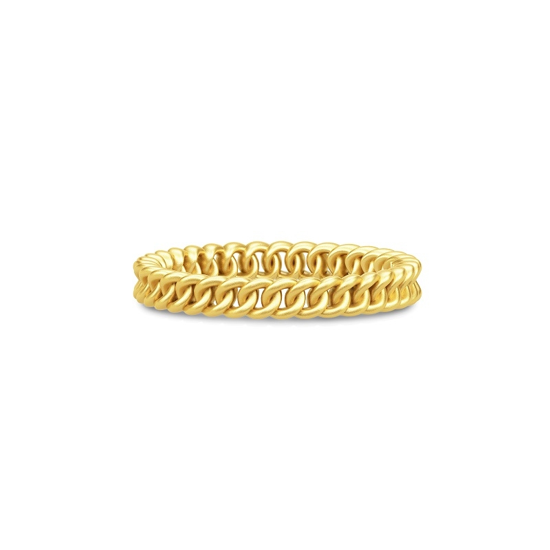 Julie Sandlau Chain small Classic ring i forgyldt str 58