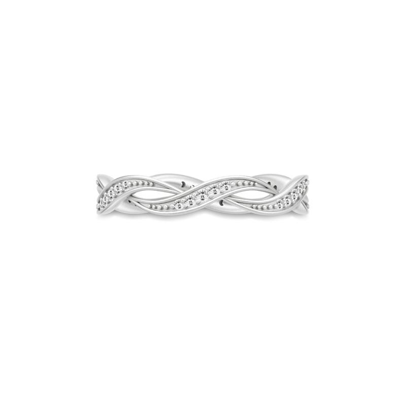Julie Sandlau Ocean sølv ring med zirkoner