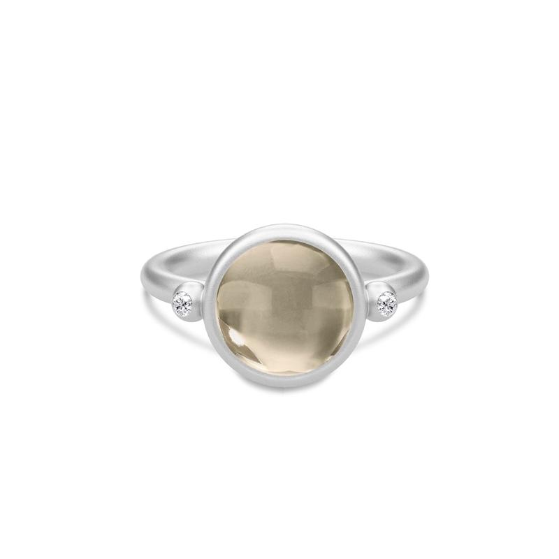 Julie Sandlau Prime ring i sølv med røgfarvet krystal og CZ