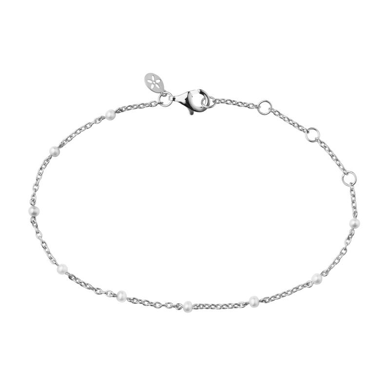 Image of   Bybiehl Scarlett sølv armbånd med perler, 20 cm