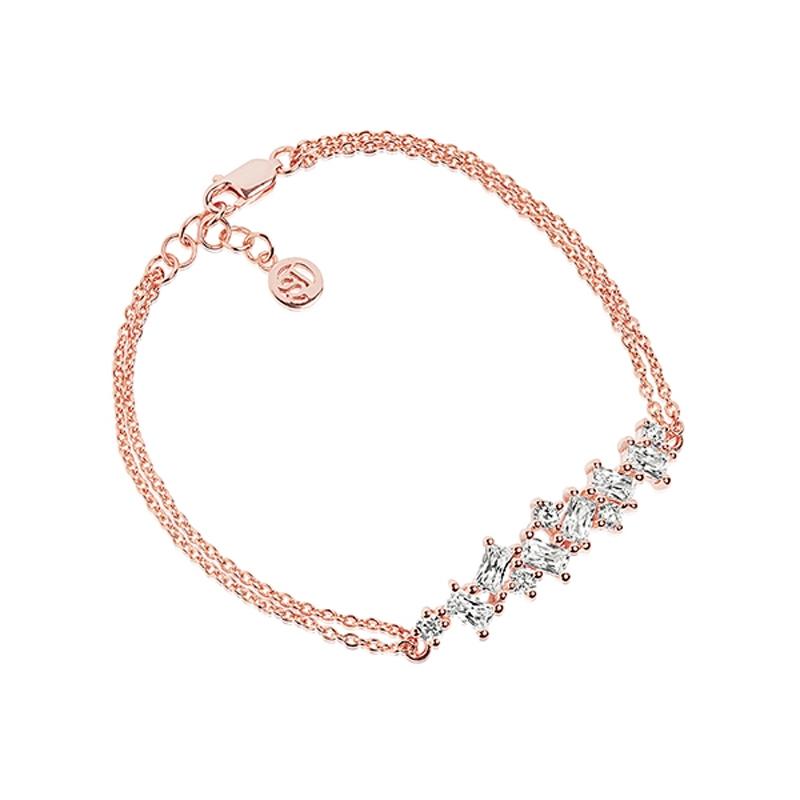 Sif Jakobs Antella armbånd i rosaforgyldt med hvide zirkoner