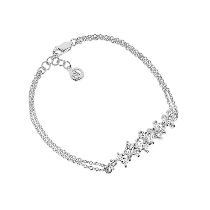 Sif Jakobs Antella armbånd i sølv med hvide zirkoner