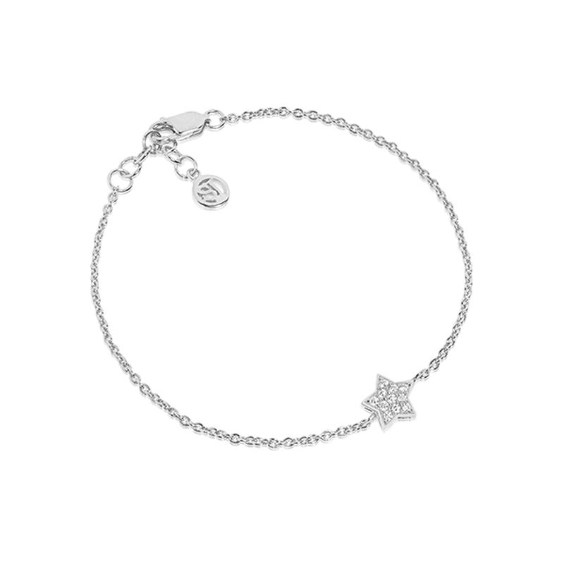 Sif Jakobs Atrani stjerne armbånd i sølv med hvide cz