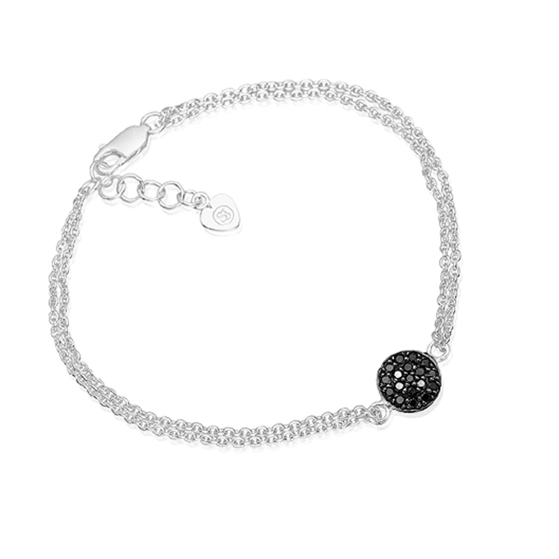 Sif Jakobs Sacile armbånd i sølv med sorte zirkoner