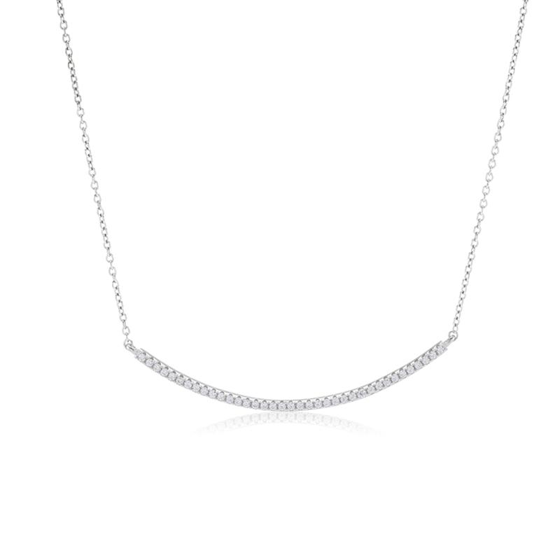 Sif Jakobs Fucino halskæde i sølv med hvide zirkoner