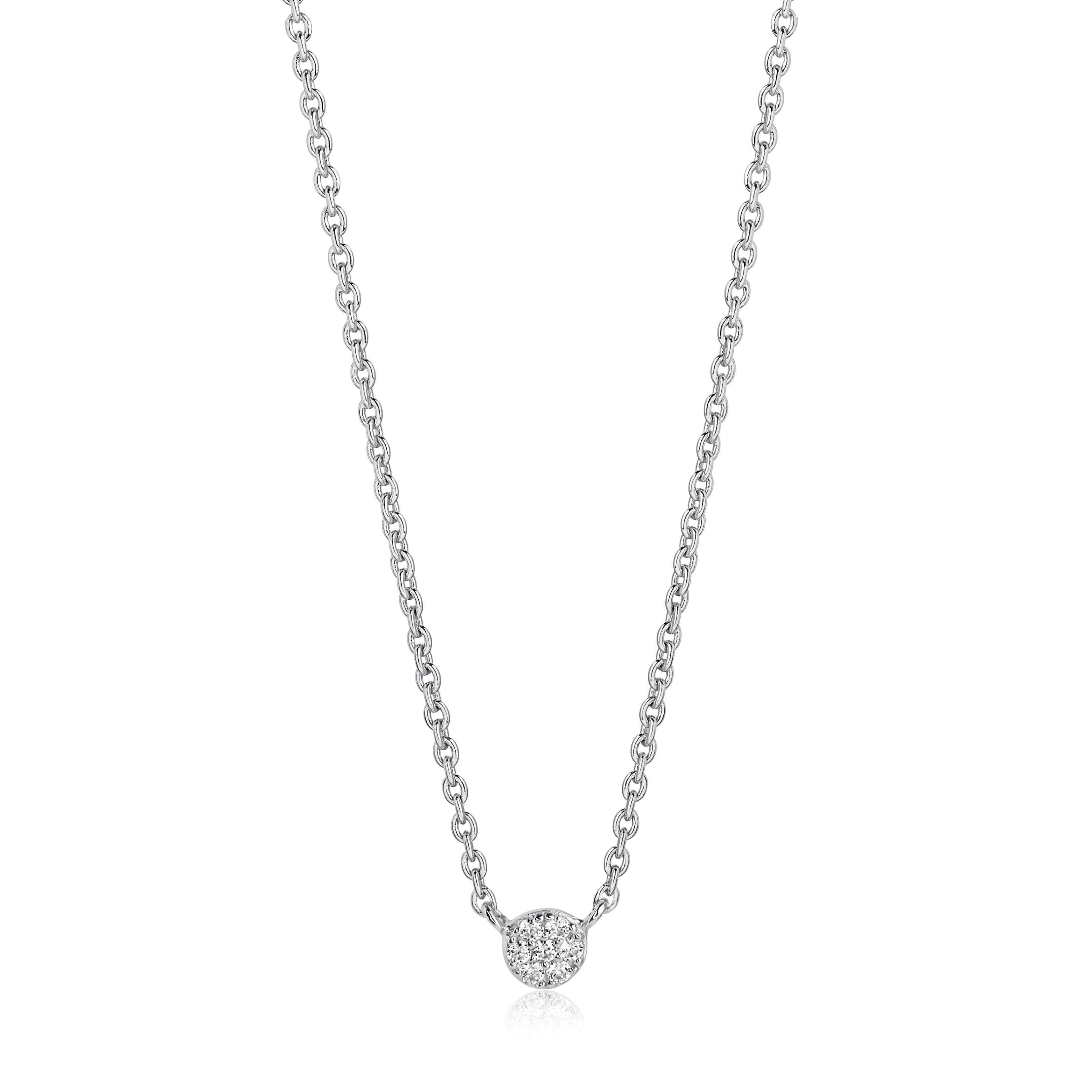 Sif Jakobs Cecina halskæde i sølv med hvide zirkoner