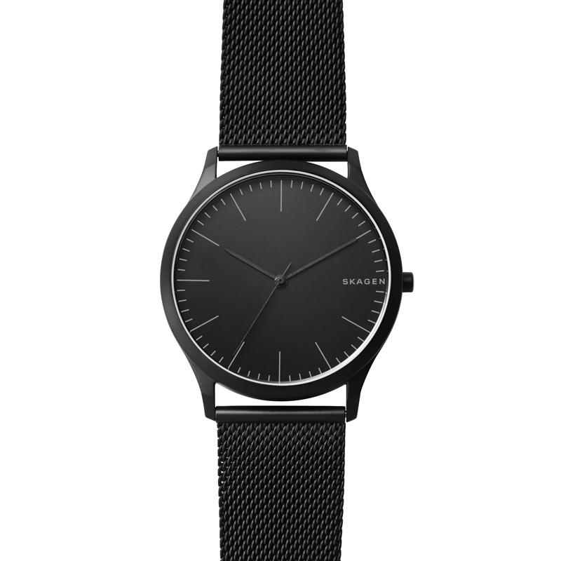 Skagen Jorn armbåndsur i sort stål med mesh lænke thumbnail
