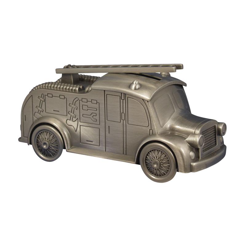 Image of   Sparebøsse Brandbil, fortinnet