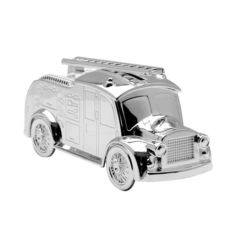 Image of   Sparebøsse Brandbil, sølvplet