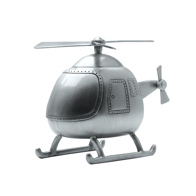 Image of   Sparebøsse Helikopter i fortinnet