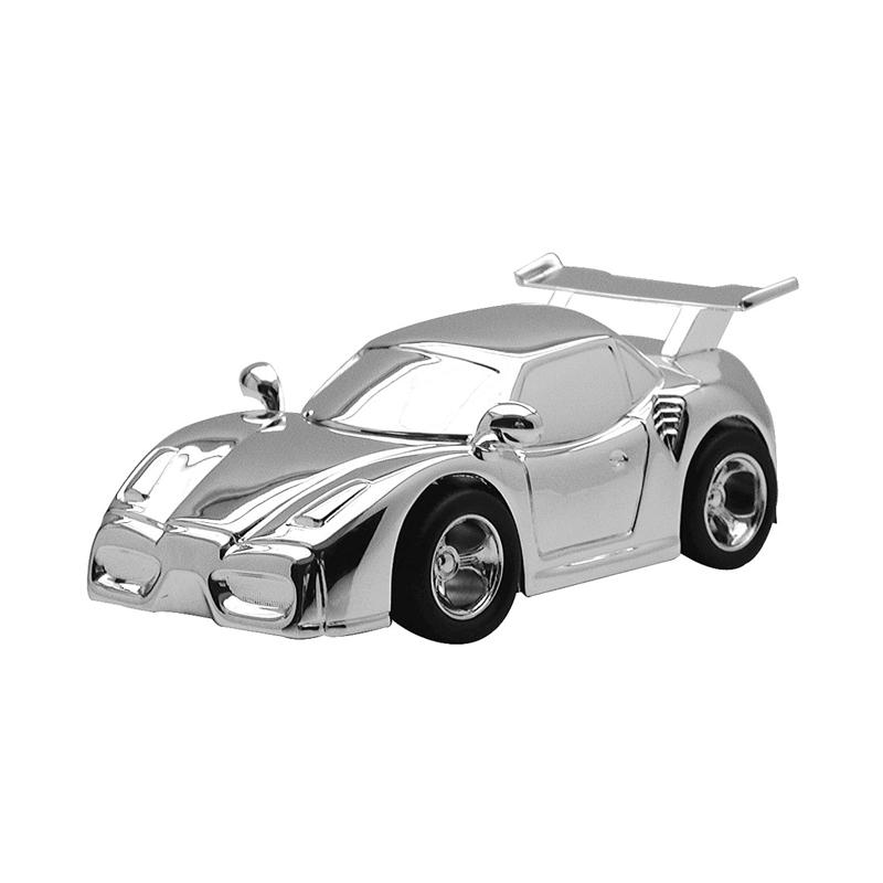Image of   Sparebøsse Racerbil, forchromet