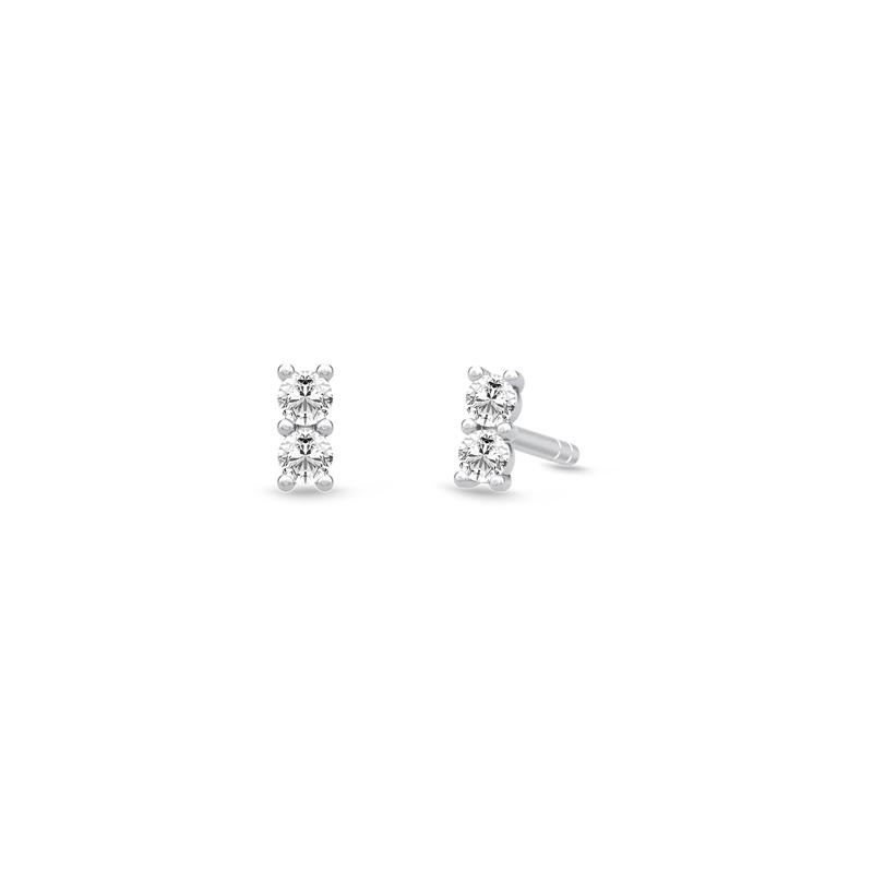 Julie Sandlau Lucia sølv mini ørestikker med cubic zirkonia