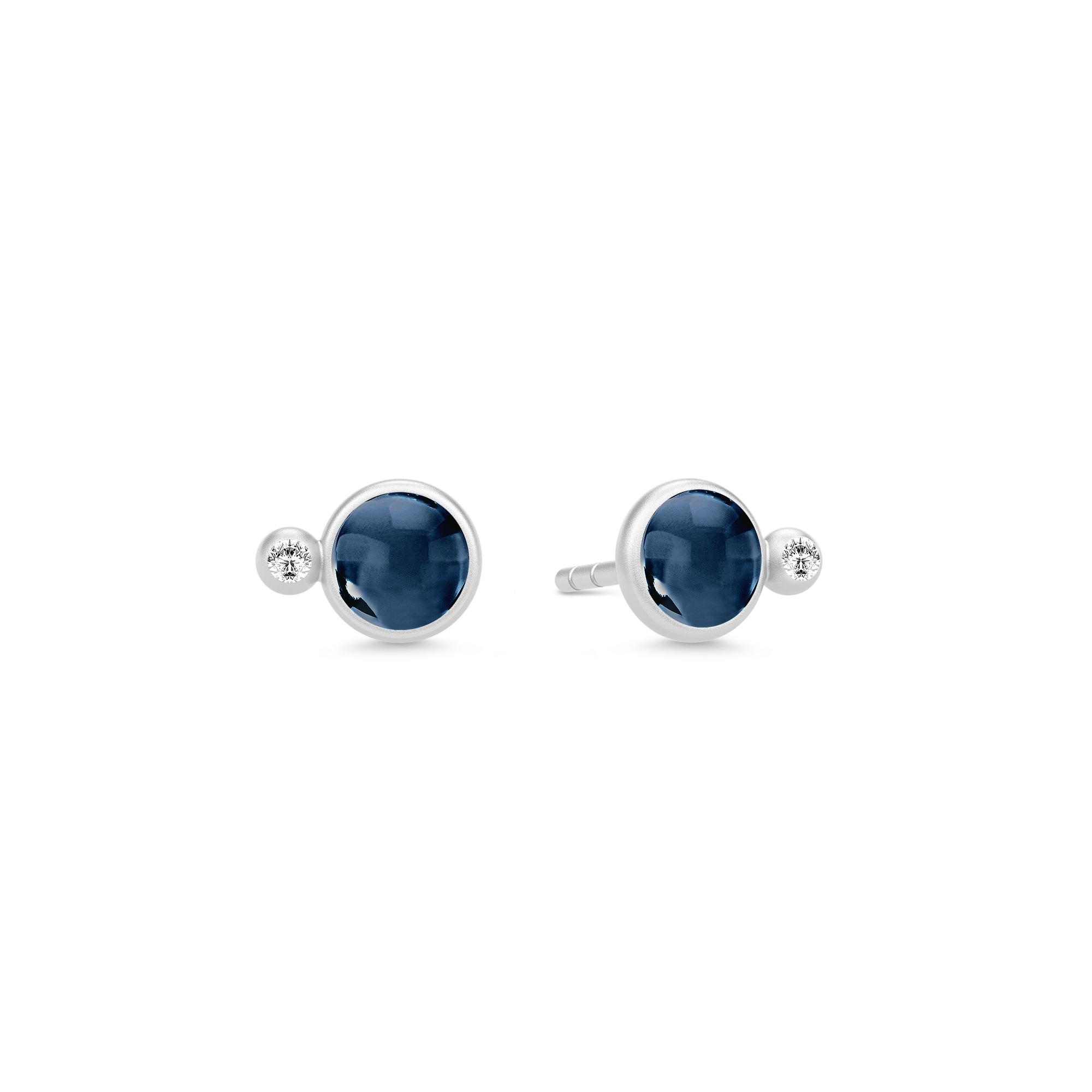 Billede af JulieSandlau Prime ørestikker i sølv med blå krystal og zirkon