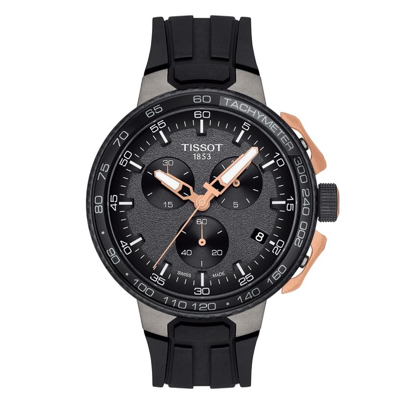 Image of   TISSOT T-Race Chronograph armbåndsur i rosa/sort