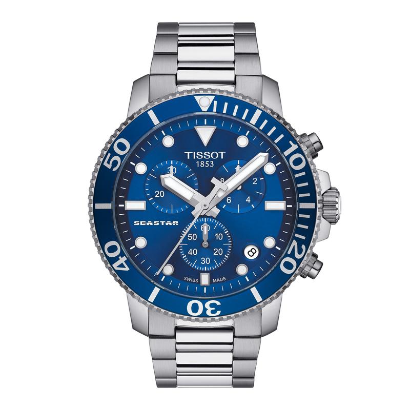 Billede af TISSOT Seastar 1000 armbåndsur med chronograf og lænke