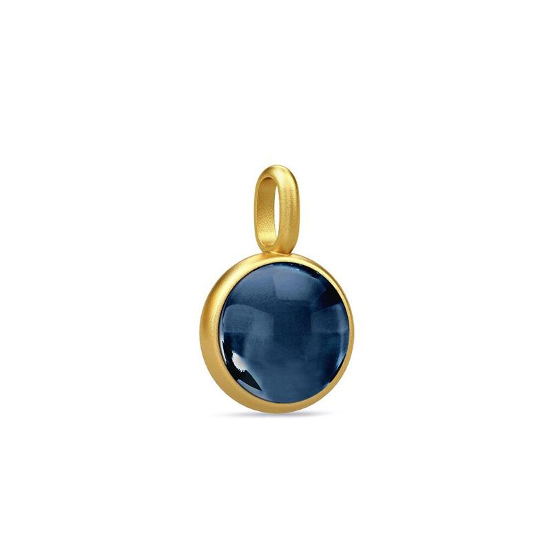 Image of   Julie Sandlau Prime Vedhæng i forgyldt med blå krystal
