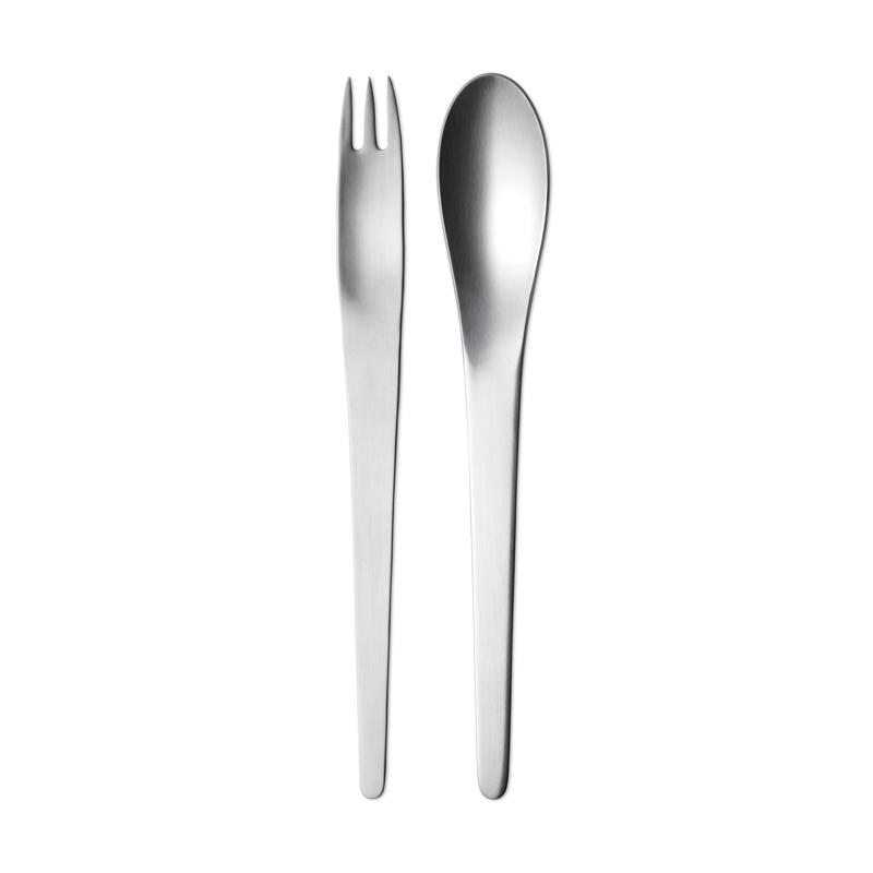 Georg Jensen Arne Jacobsen salatsæt, stål