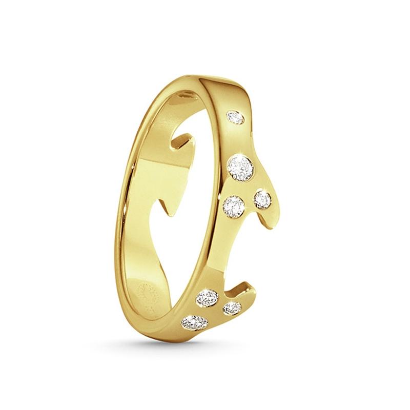 Georg Jensen Fusion endering 1368, 18 kt. rødguld med 8 diamanter