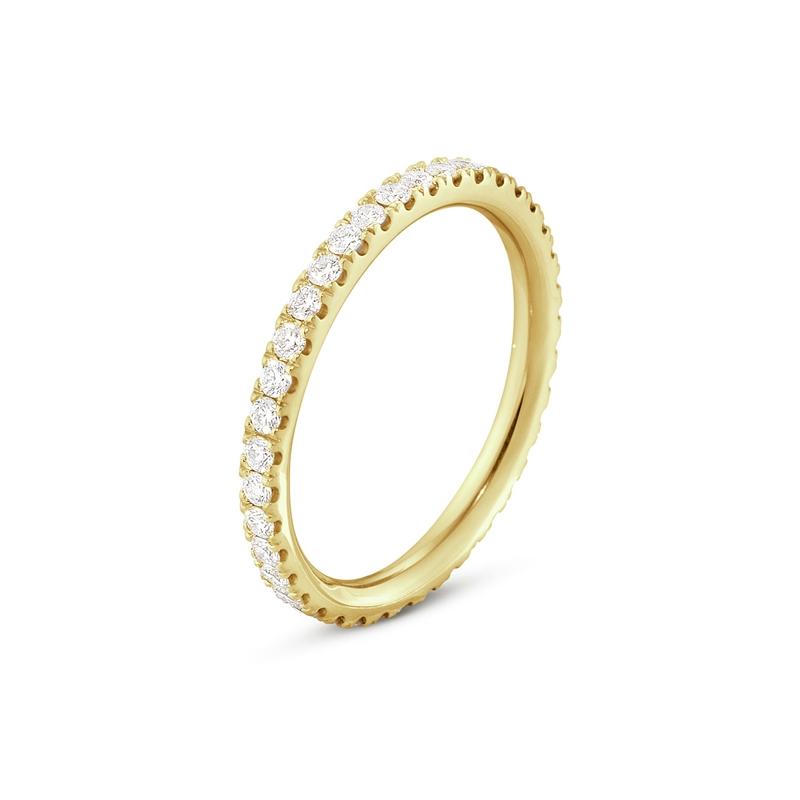 Georg Jensen Aurora ring i 18 kt rødguld med diamanter, mellem størrelse