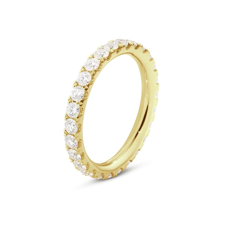 Georg Jensen Aurora ring i 18 kt rødguld med diamanter, stor størrelse