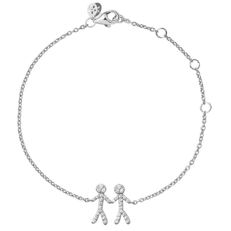 ByBiehl You and Me together 2 armbånd i sølv med cubic zirkonia