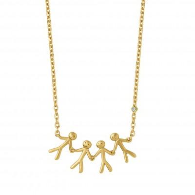 edb2d38e5c1 ByBiehl together 4 halskæde i 14 kt. guld med 0,02 ct. diamant