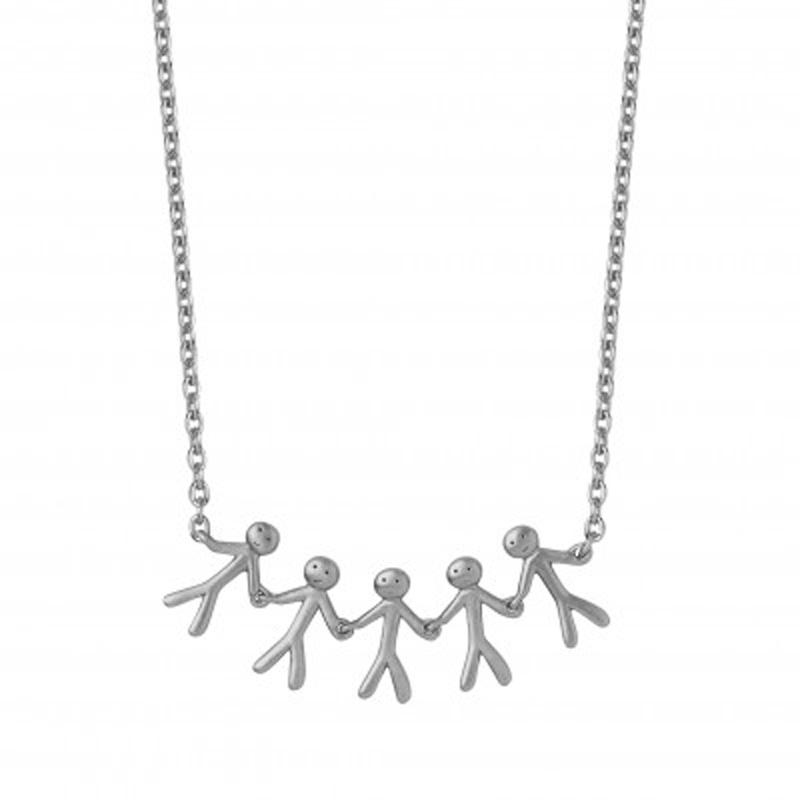 ByBiehl Family together 5 halskæde i sølv