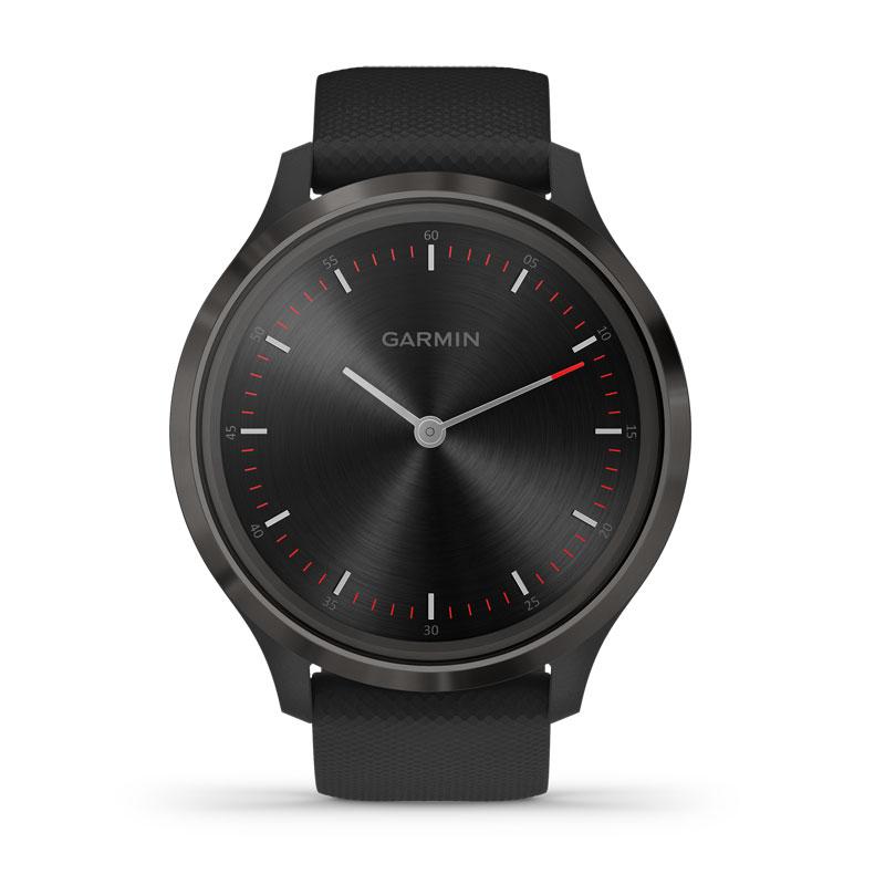 Image of   Garmin Vivomove 3 smartwatch armbåndsur i sort stål med sort silikonerem
