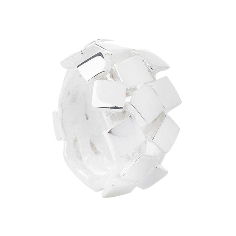 Von Lotzbeck Square Cluster ring sølv