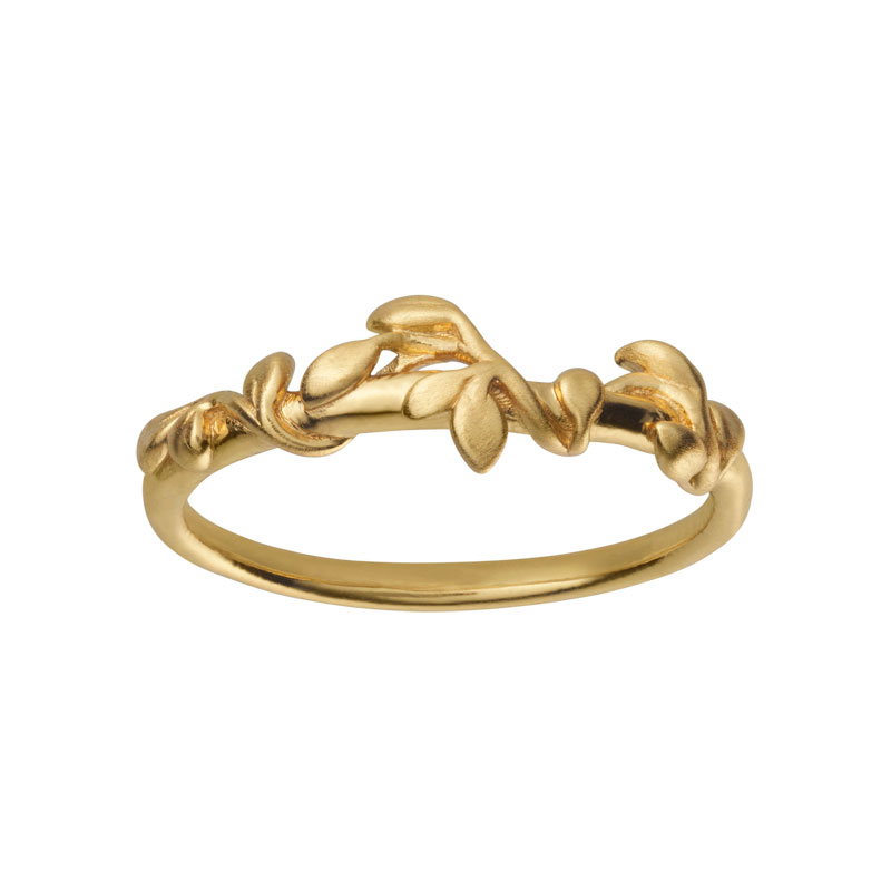 Image of   Bybiehl Jungle Ivy ring i forgyldt