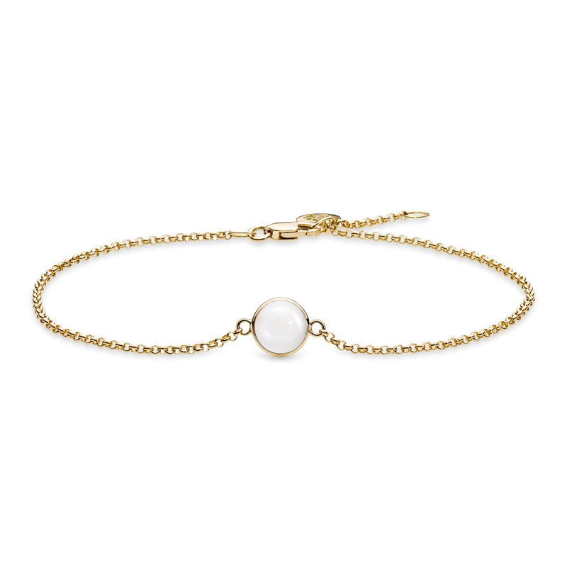 Image of   Julie Sandlau Lumina armbånd i guld med hvid månesten